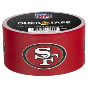 New 2012 SF San Francisco 49ers Duck Tape one roll